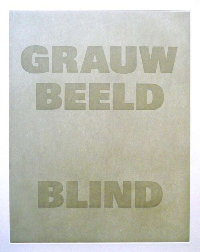 GRAUW / BEELD / BLIND, 1996. Aquatint edition of a mural.