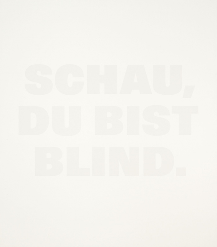 Schau, Du bist blind, 1991.