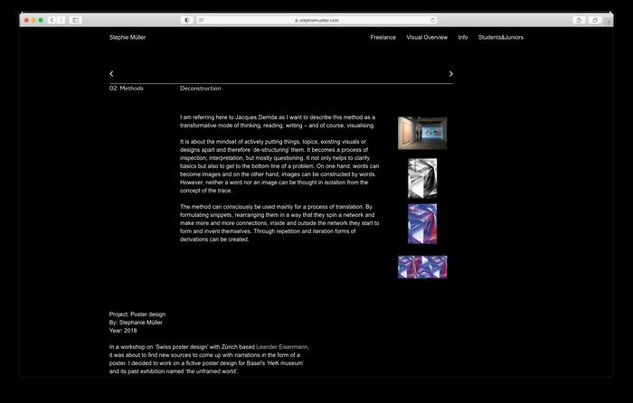 Stephie Müller portfolio website 6