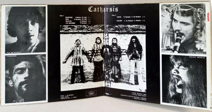 Gatefold of the original release on Saravah. The band name is here shown in .