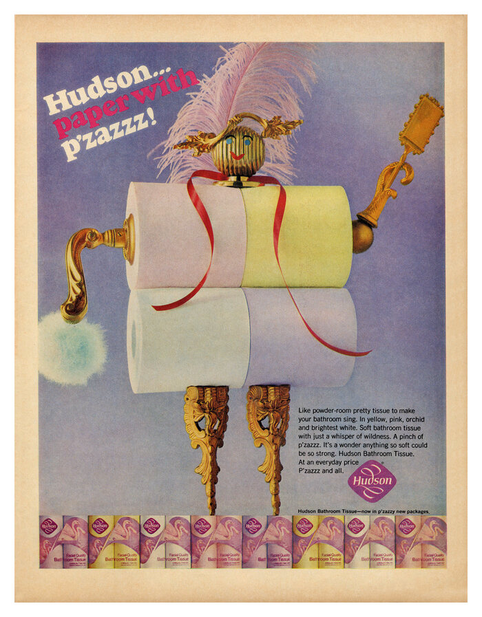 """Hudson… paper with p'zazzz!"" ads (1966) 2"