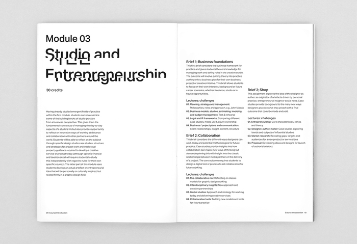 Falmouth University, MA Graphic Design (online) 3