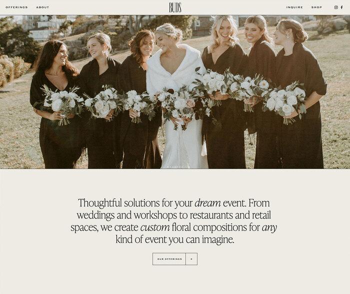 Buds Floral Design website 1