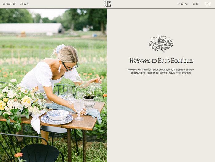 Buds Floral Design website 2