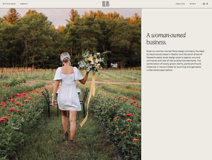 Buds Floral Design website 3