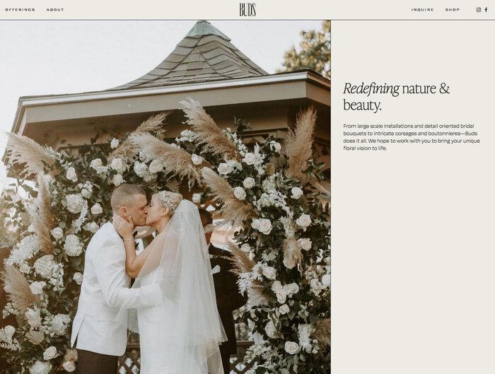 Buds Floral Design website 5