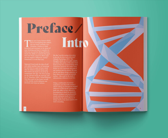 DNA makes for a beautiful illustrative style which I thoroughly enjoyed experimenting with. The weaving shapes complimented the Bely letterforms.
