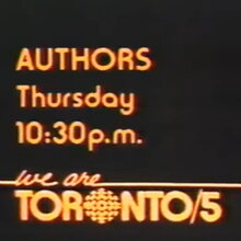 <cite>We are Toronto/5</cite> title cards, CBC
