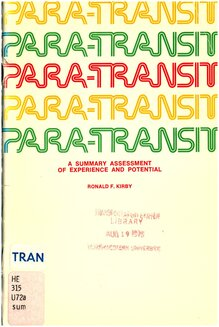 <cite>Para-Transit: Neglected Options for Urban Mobility</cite>
