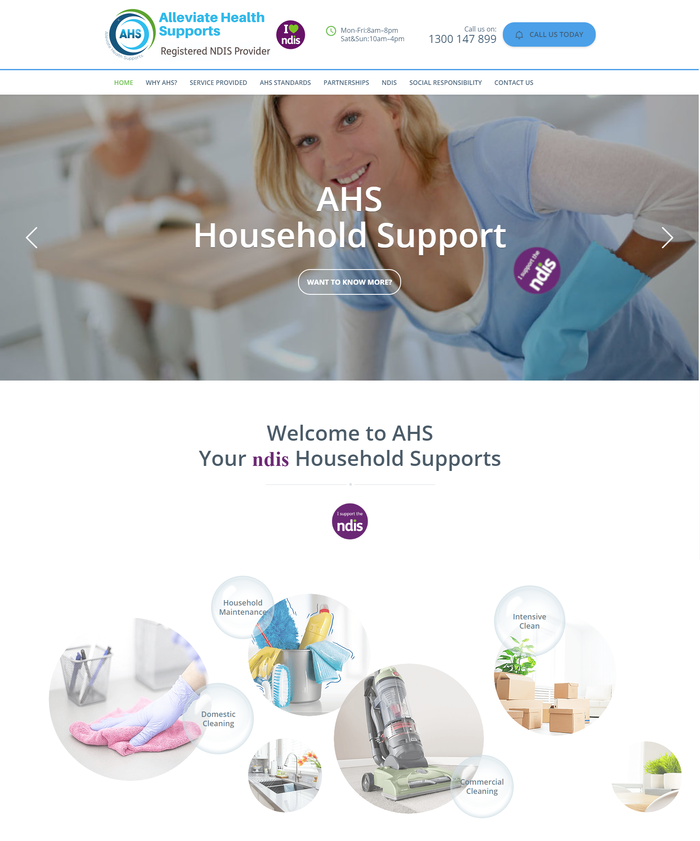 Alleviate Health Supports website 1