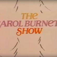 <cite>The Carol Burnett Show</cite> TV show logo