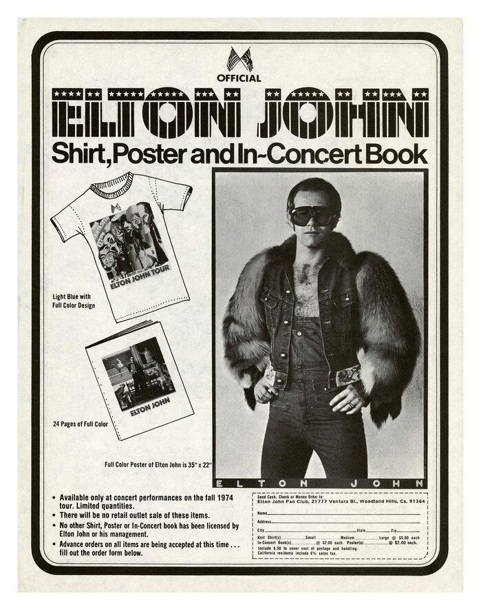 Elton John Fan Club ads (1974) 2