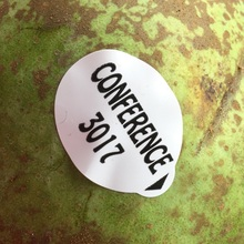 Conference pear fruit sticker