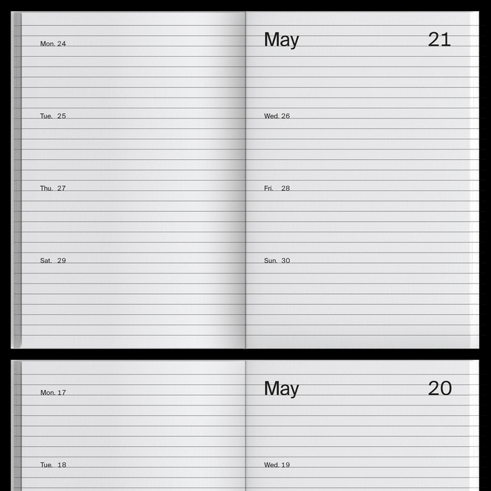 2021 Weekly Index calendar 3