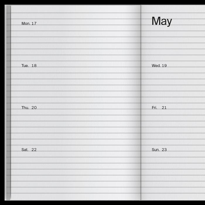 2021 Weekly Index calendar 4