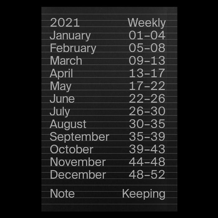 2021 Weekly Index calendar 9