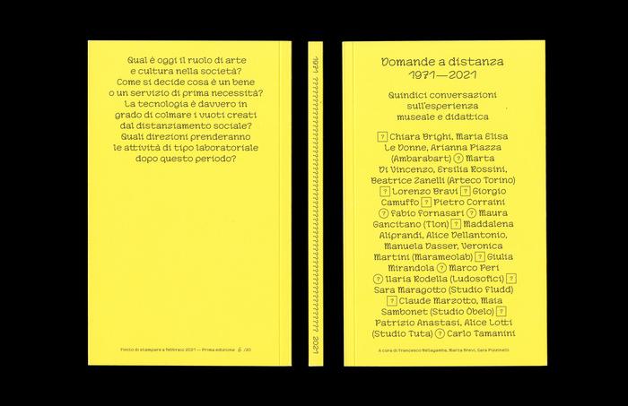 Domande a distanza 1971–2021 (ISIA Urbino) 2
