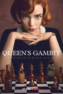 <cite>The Queen's Gambit</cite> (2020) poster, titles, promotional materials