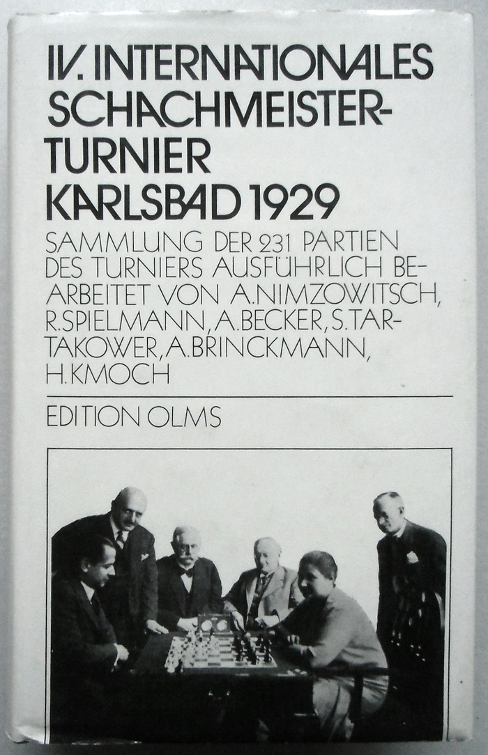 IV. Internationales Schachmeisterturnier Karlsbad 1929. Sammlung der 231 Partien des Turniers. Edition Olms, 1981. ITC Avant Garde Gothic here is paired with the similar .