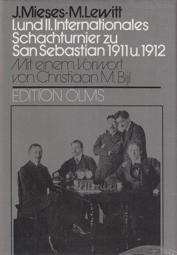 "I. und II. Internationales Schachturnier zu San Sebastian 1911 u. 1912 by Jacques Mieses and Moritz Lewitt. With a foreword by Christiaan M. Bijl. Edition Olms, 1982. Note the use of the narrow c in ""Schachturnier""."