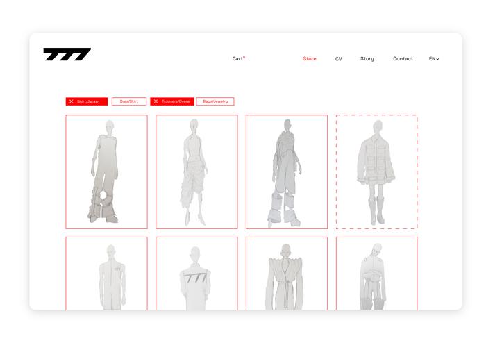 Seven77 website 3