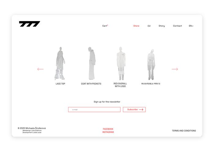 Seven77 website 6