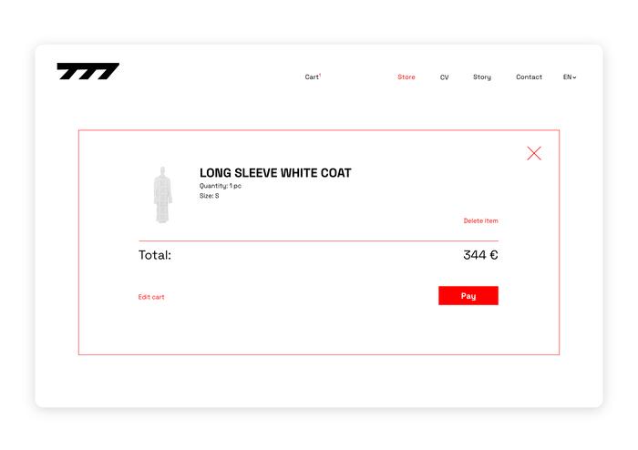 Seven77 website 5
