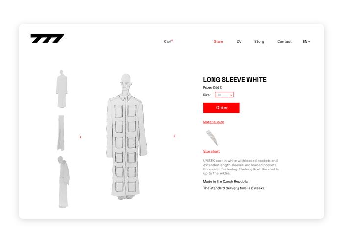 Seven77 website 4