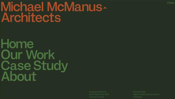 Michael McManus Architects website 1