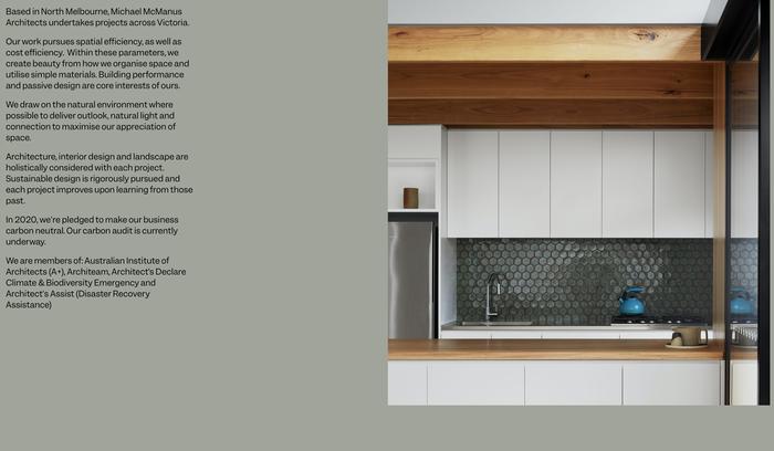 Michael McManus Architects website 4