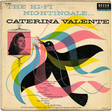 Caterina Valente – <cite>The Hi-Fi Nightingale…</cite> album art