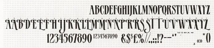 MGB Patrician specimen, Andresen Typographics, ca. 1990.
