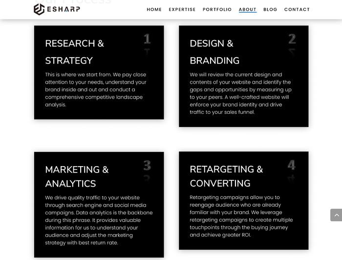 eSharp portfolio website 4
