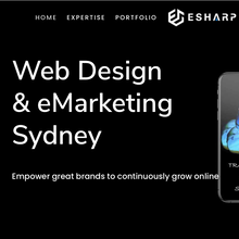 eSharp portfolio website