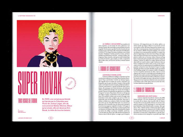 Illustration of Kim Novak by Marie Mohanna