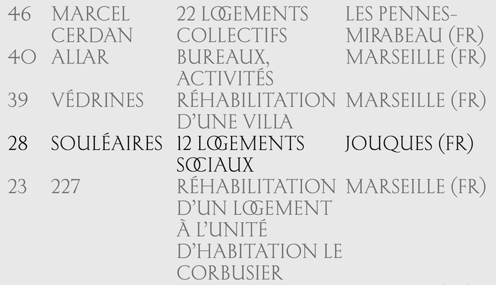 Detail from the Selection page, featuring Kessler with some of its discretionary capital ligatures, here for the OG and OC pairs.