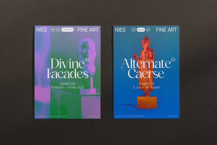 Nies Fine Art identity 3