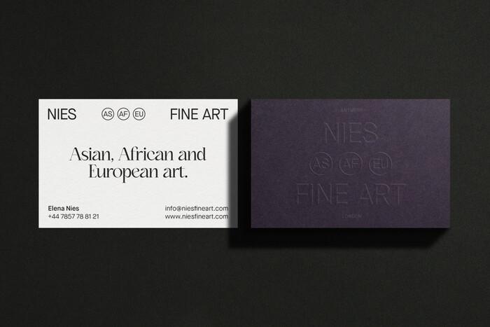 Nies Fine Art identity 2