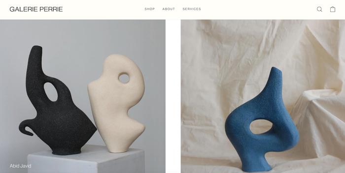Galerie Perrie website 1