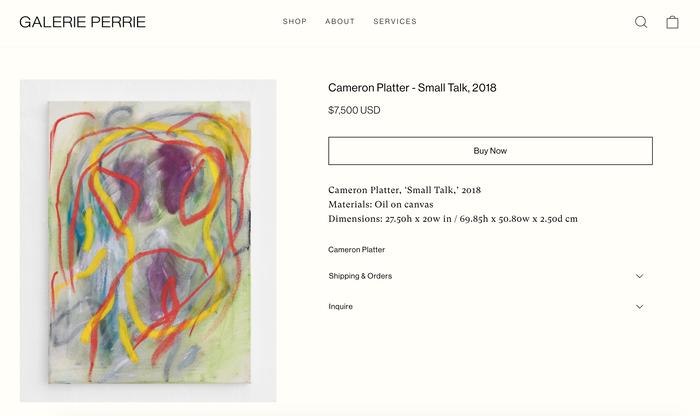 Galerie Perrie website 2