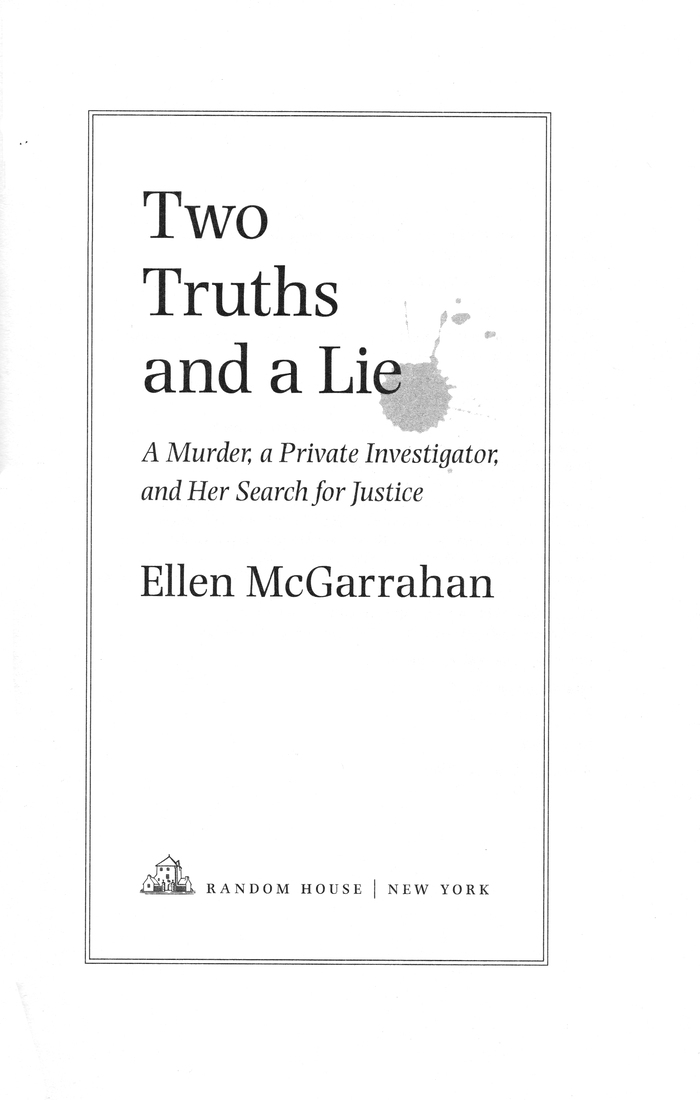 Two Truths and a Lie by Eileen McGarrahan 1