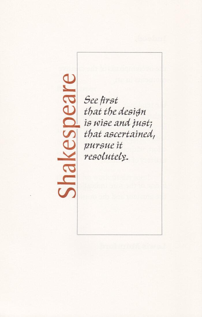 Typographia·1, The Adagio Press 3