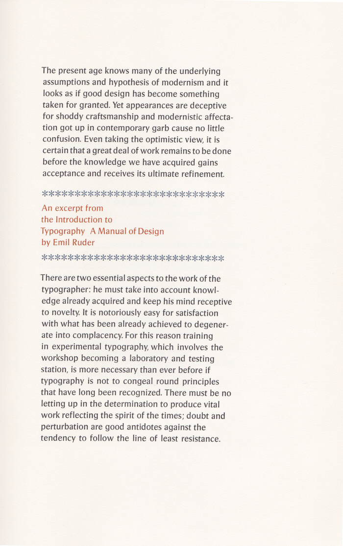 Typographia·1, The Adagio Press 4