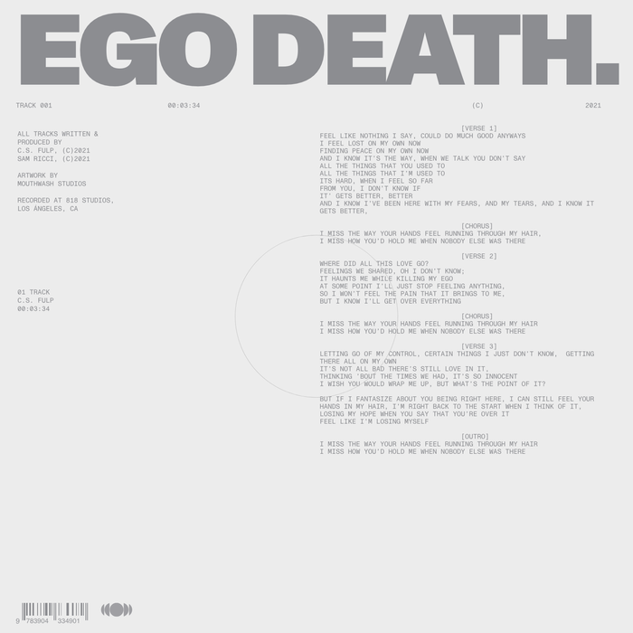 "C.S. Fulp – ""Ego Death"" single 1"