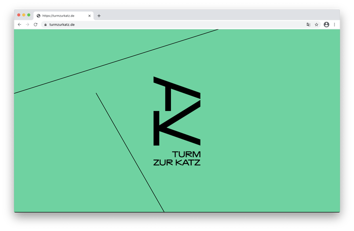 Homepage with TZK monogram and wordmark.