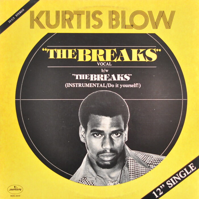 "Kurtis Blow ‎– ""The Breaks"" single cover 1"