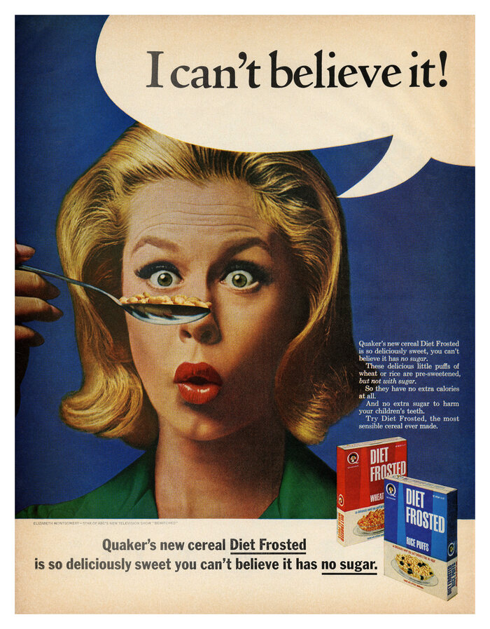 Diet Frosted cereals ad (1965)