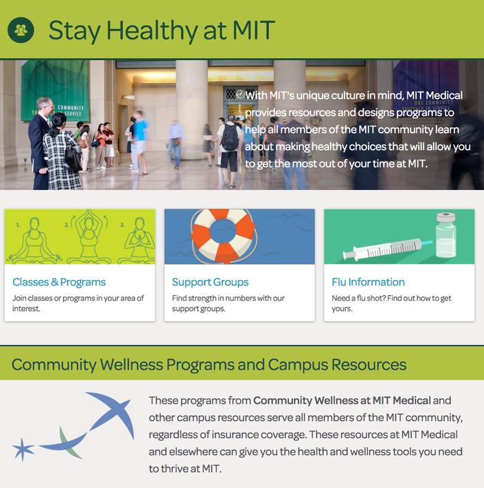 MIT Medical website 1