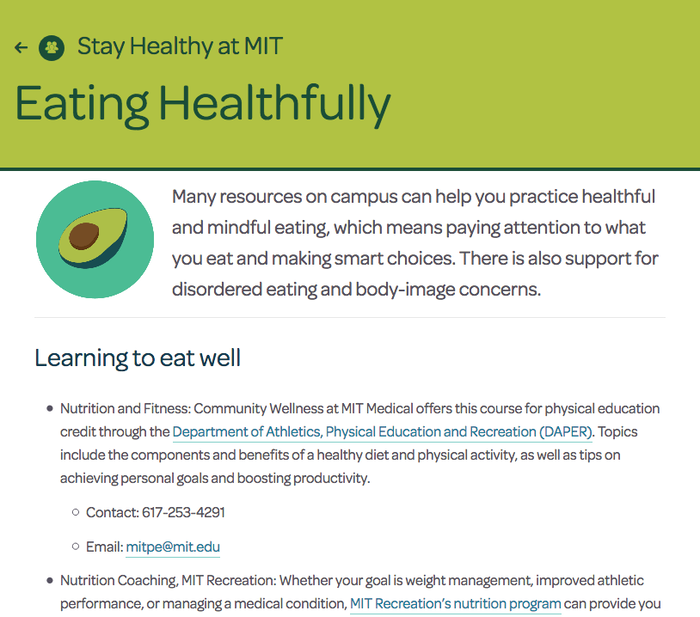 MIT Medical website 4