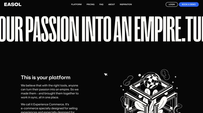 Easol website 1